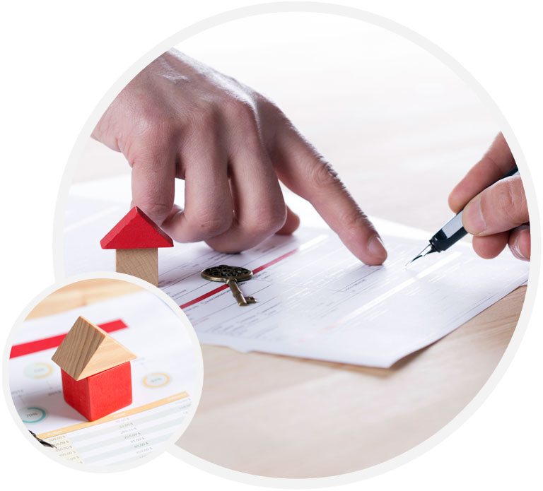 signing a mortgage form